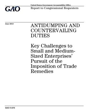 Primary view of object titled 'Antidumping and Countervailing Duties: Key Challenges to Small and Medium-Sized Enterprises' Pursuit of the Imposition of Trade Remedies'.