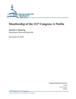 Membership of the 111th Congress: A Profile