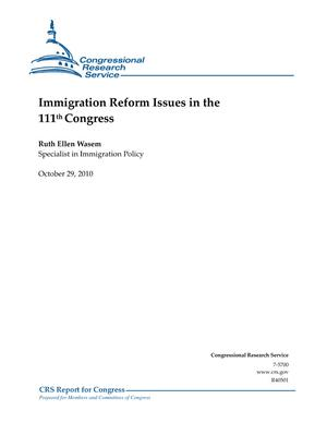 Immigration Reform Issues in the 111th Congress