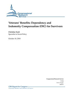 Veterans' Benefits: Dependency and Indemnity Compensation (DIC) for Survivors