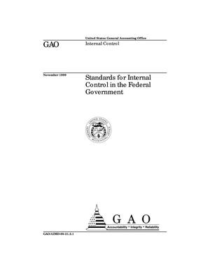 Primary view of object titled 'Standards for Internal Control in the Federal Government (Supersedes AIMD-98-21.3.1)'.
