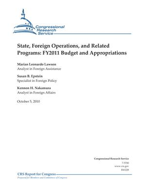 State, Foreign Operations, and Related Programs: FY2011 Budget and Appropriations