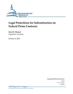 Legal Protections for Subcontractors on Federal Prime Contracts
