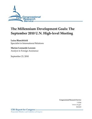 The Millennium Development Goals: The September 2010 U.N. High-level Meeting