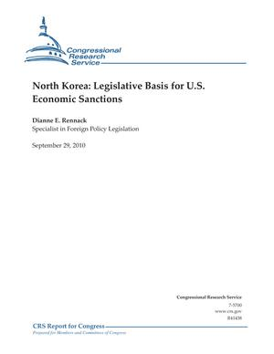 North Korea: Legislative Basis for U.S. Economic Sanctions