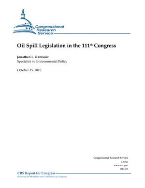 Oil Spill Legislation in the 111th Congress