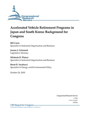 Accelerated Vehicle Retirement Programs in Japan and South Korea: Background for Congress