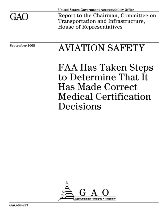 Aviation Safety Faa Has Taken Steps To Determine That It Has Made