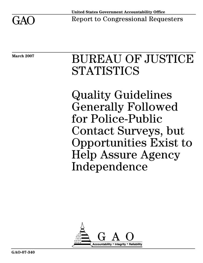 Bureau of Justice Statistics: Quality Guidelines Generally