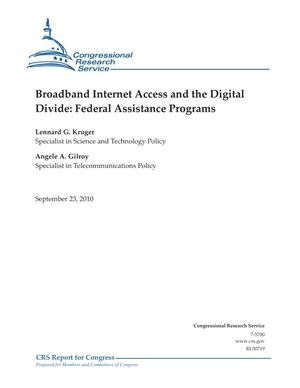 Broadband Internet Access and the Digital Divide: Federal Assistance Programs