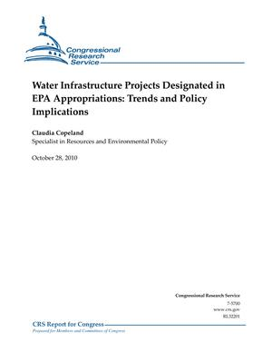 Water Infrastructure Projects Designated in EPA Appropriations: Trends and Policy Implications
