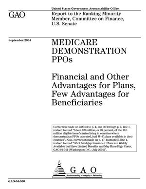 Primary view of object titled 'Medicare Demonstration PPOs: Financial and Other Advantages for Plans, Few Advantages for Beneficiaries'.