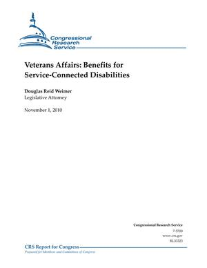 Veterans Affairs: Benefits for Service-Connected Disabilities