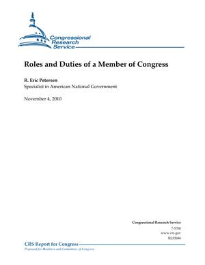 Roles and Duties of a Member of Congress