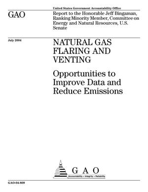 Primary view of object titled 'Natural Gas Flaring and Venting: Opportunities to Improve Data and Reduce Emissions'.