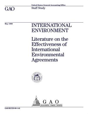 Primary view of object titled 'International Environment: Literature on the Effectiveness of International Environmental Agreements'.
