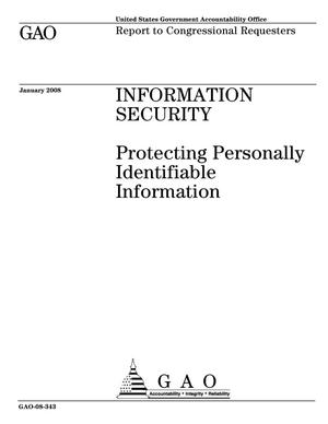 Primary view of object titled 'Information Security: Protecting Personally Identifiable Information'.