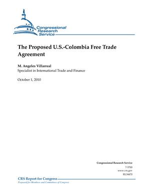 The Proposed U.S.-Colombia Free Trade Agreement