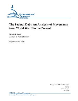 The Federal Debt: An Analysis of Movements from World War II to the Present