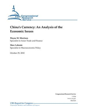 China's Currency: An Analysis of the Economic Issues