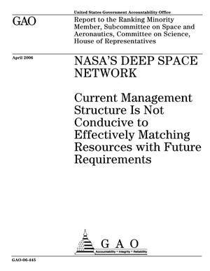 Primary view of object titled 'NASA's Deep Space Network: Current Management Structure Is Not Conducive to Effectively Matching Resources with Future Requirements'.