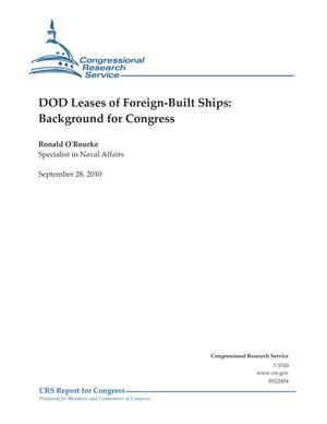 DOD Leases of Foreign-Built Ships: Background for Congress