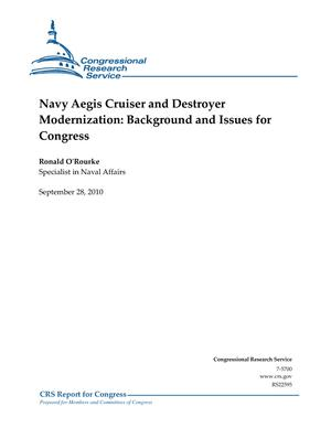 Navy Aegis Cruiser and Destroyer Modernization: Background and Issues for Congress