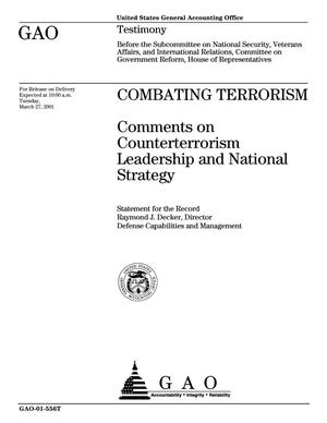 Primary view of object titled 'Combating Terrorism: Comments on Counterterrorism Leadership and National Strategy'.