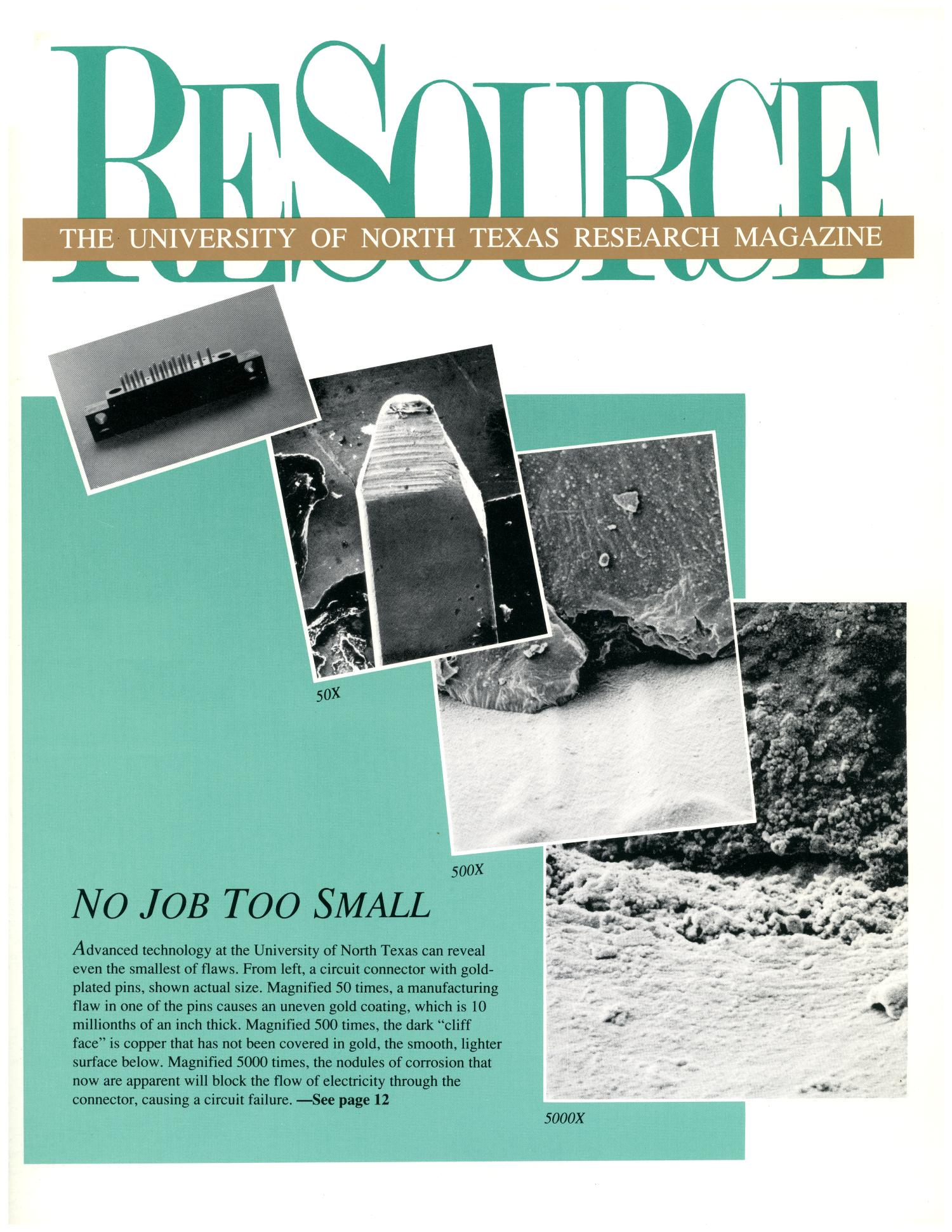 ReSource, Volume 6, Number 1, Fall 1989                                                                                                      Front Cover