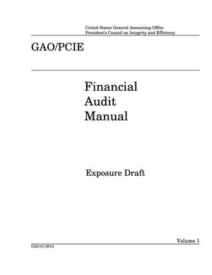 Primary view of object titled 'Financial Audit Manual (Exposure Draft)'.