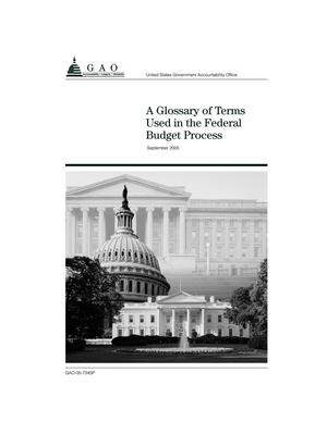 Primary view of object titled 'A Glossary of Terms Used in the Federal Budget Process (Supersedes AFMD-2.1.1)'.