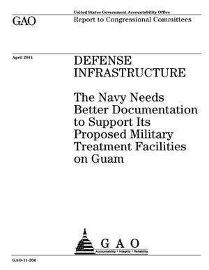 Primary view of object titled 'Defense Infrastructure: The Navy Needs Better Documentation to Support Its Proposed Military Treatment Facilities on Guam'.