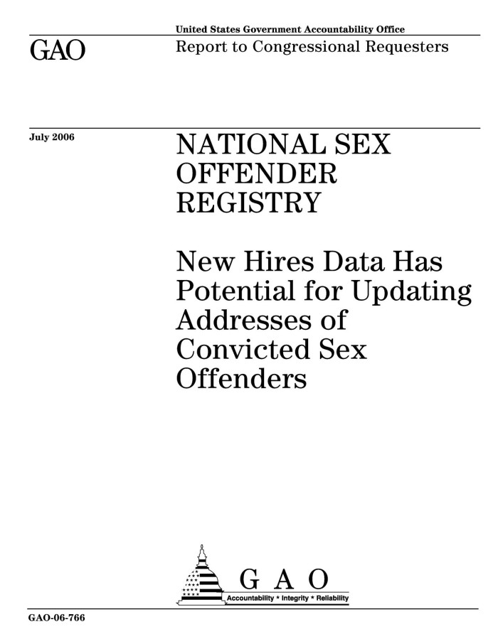 National sex offender registry nsor
