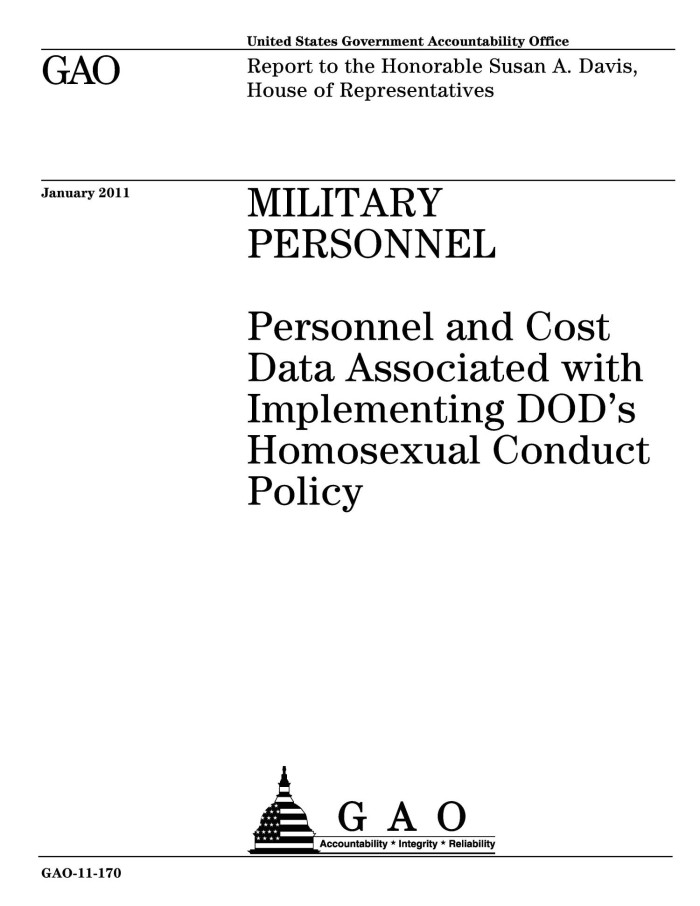 Homosexual conduct in the military