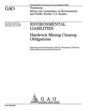Primary view of object titled 'Environmental Liabilities: Hardrock Mining Cleanup Obligations'.