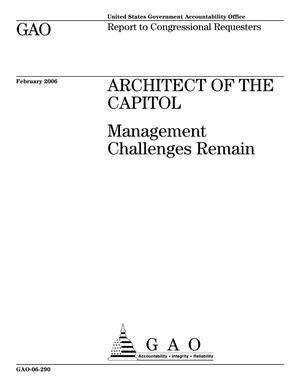 Primary view of object titled 'Architect of the Capitol: Management Challenges Remain'.