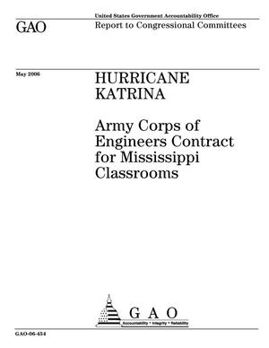Primary view of object titled 'Hurricane Katrina: Army Corps of Engineers Contract for Mississippi Classrooms'.