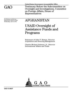 Primary view of object titled 'Afghanistan: USAID Oversight of Assistance Funds and Programs'.