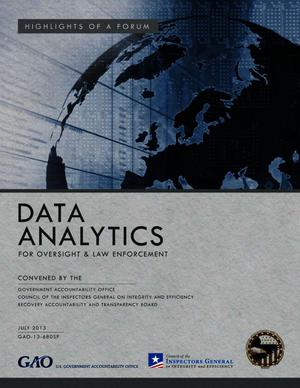 Primary view of object titled 'Highlights of a Forum: Data Analytics For Oversight and Law Enforcement'.