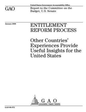Primary view of object titled 'Entitlement Reform Process: Other Countries' Experiences Provide Useful Insights for the United States'.