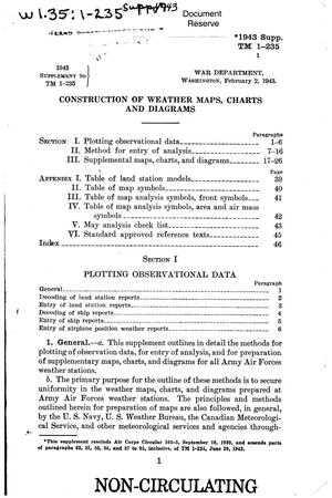Primary view of object titled 'Construction of weather maps, charts and diagrams'.