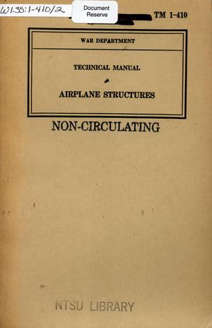 Primary view of object titled 'Airplane structures.'.