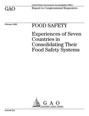 Primary view of object titled 'Food Safety: Experiences of Seven Countries in Consolidating Their Food Safety Systems'.