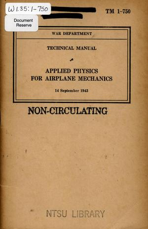 Primary view of object titled 'Applied physics for airplane mechanics.'.