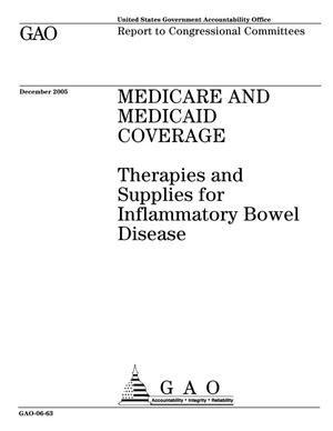Primary view of object titled 'Medicare and Medicaid Coverage: Therapies and Supplies for Inflammatory Bowel Disease'.