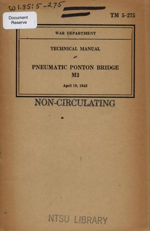 Primary view of object titled 'Pneumatic ponton bridge M3'.