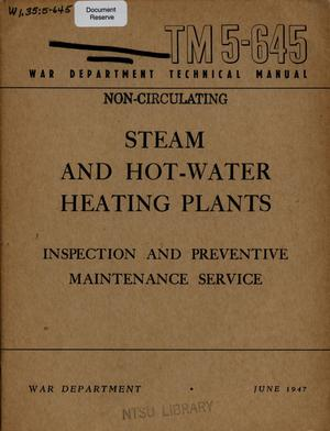 Primary view of object titled 'Steam and hot-water heating plants : inspection and preventive maintenance service'.