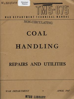 Primary view of object titled 'Coal handling : repairs and utilities'.