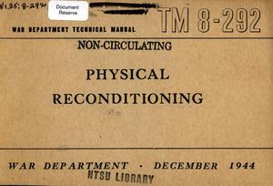 Primary view of object titled 'Physical reconditioning.'.