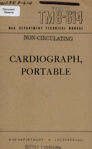 Primary view of object titled 'Cardiograph, portable.'.